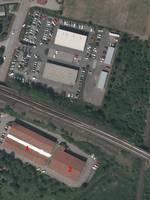 Luftbild Einkaufszentrum (Lauchstädter Straße) [(c): Landesamt für Vermessung und Geoinformation Sachsen-Anhalt (LVermGeo)]